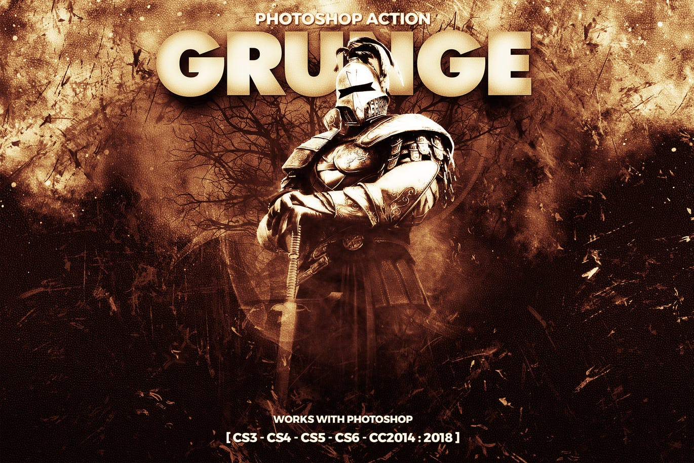 Grunge Photoshop Action| Free Download