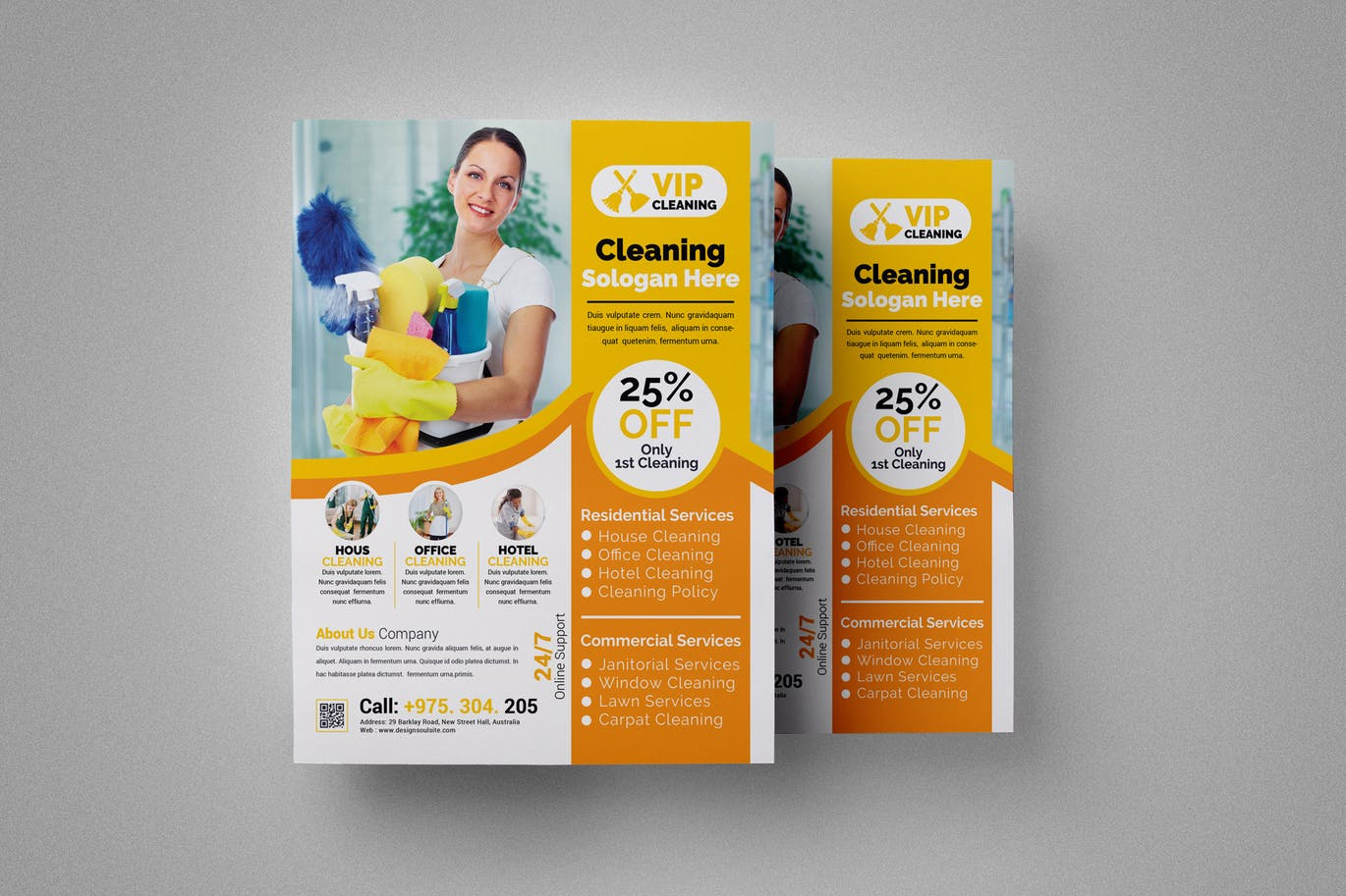 House cleaning flyer | free download