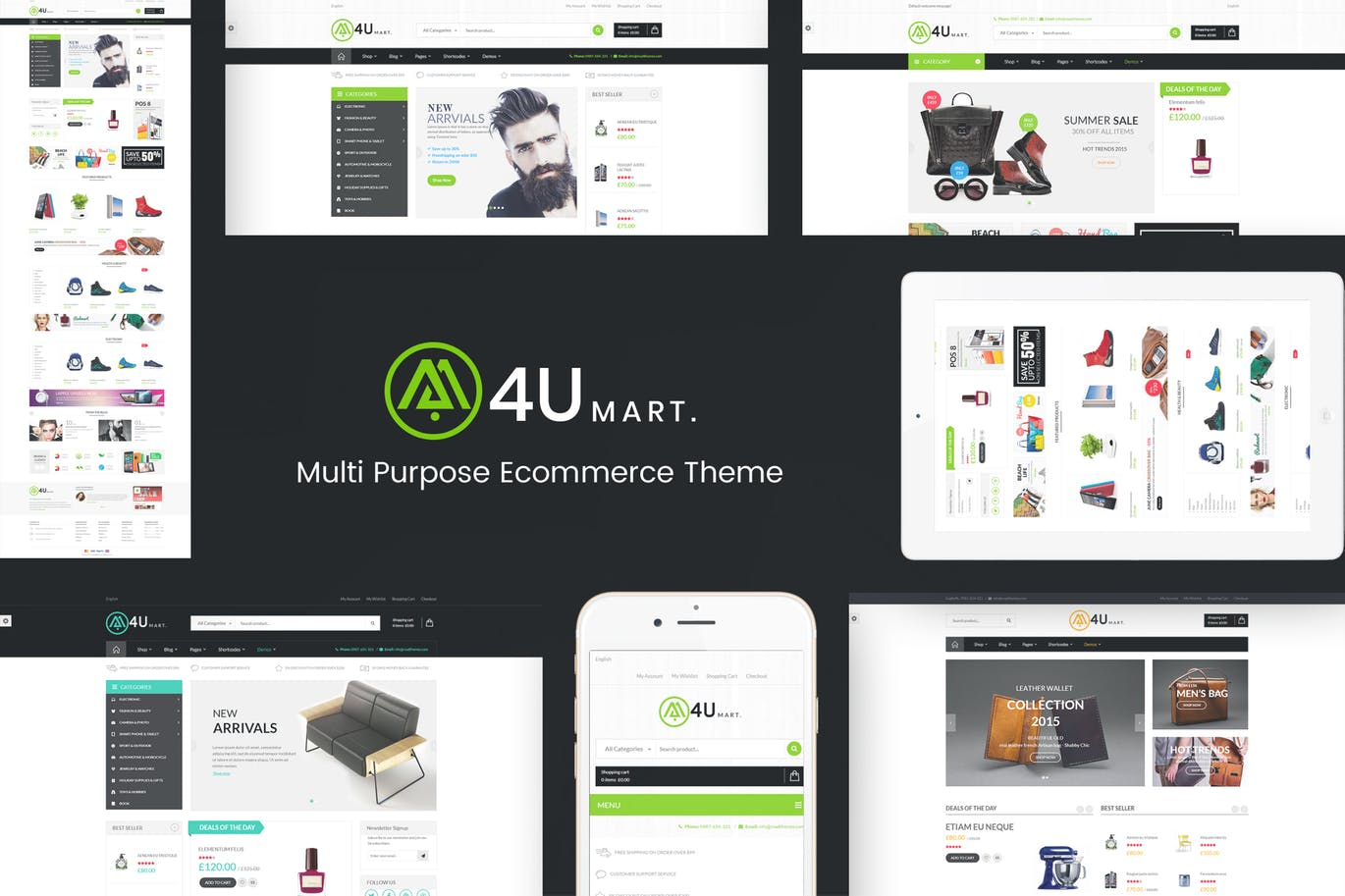 M4U - Multi Store Responsive WordPress Theme | Free Download