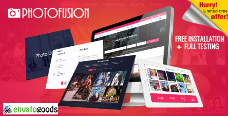 Photo Fusion - Free Stock Photos Script | free download