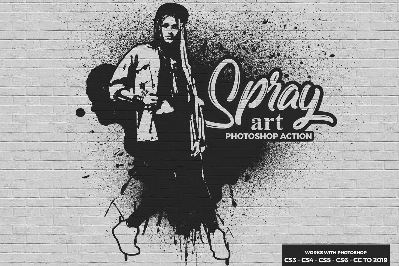 Spray Art Photoshop Action | Free Download