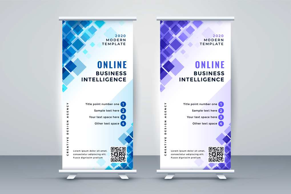 Abstract business rollup standee banner