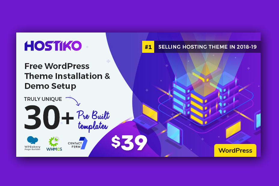 Hostiko WordPress WHMCS Hosting Theme Free Download