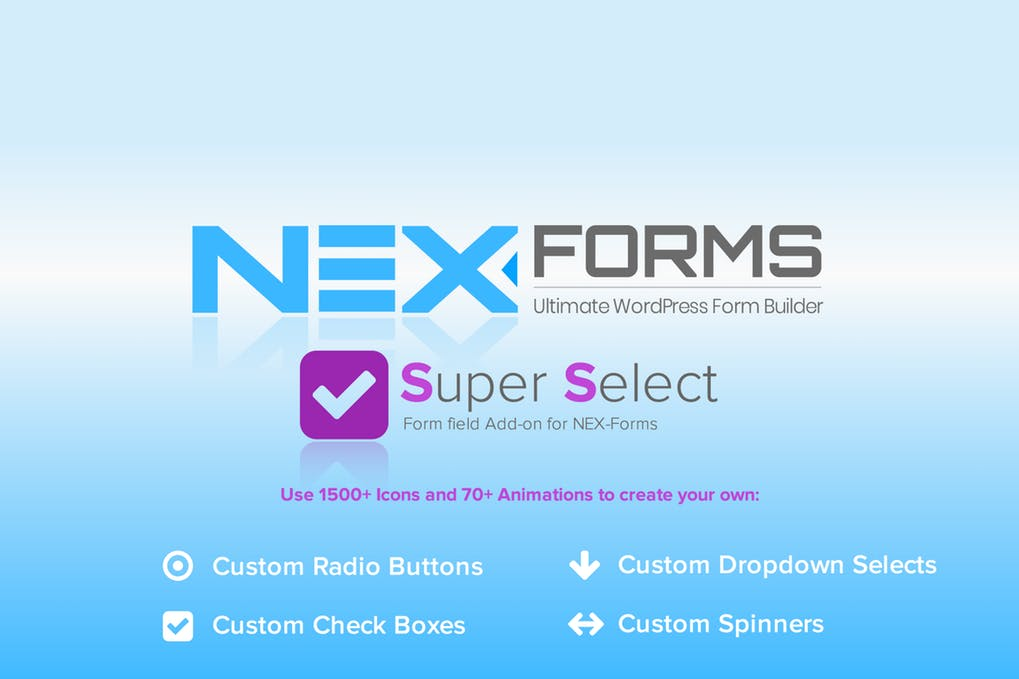 NEX Forms Super Selection Form Field Add on