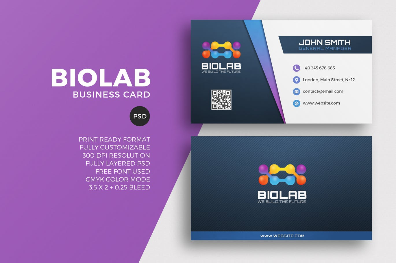 Biolab business card template