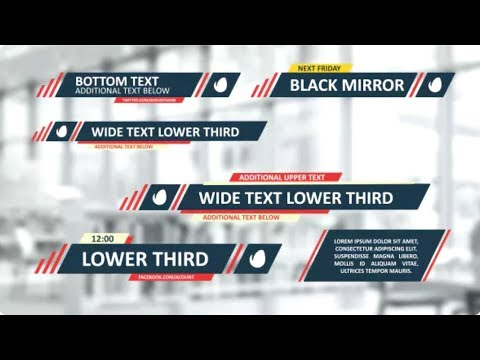 Flat Lines Lower Thirds