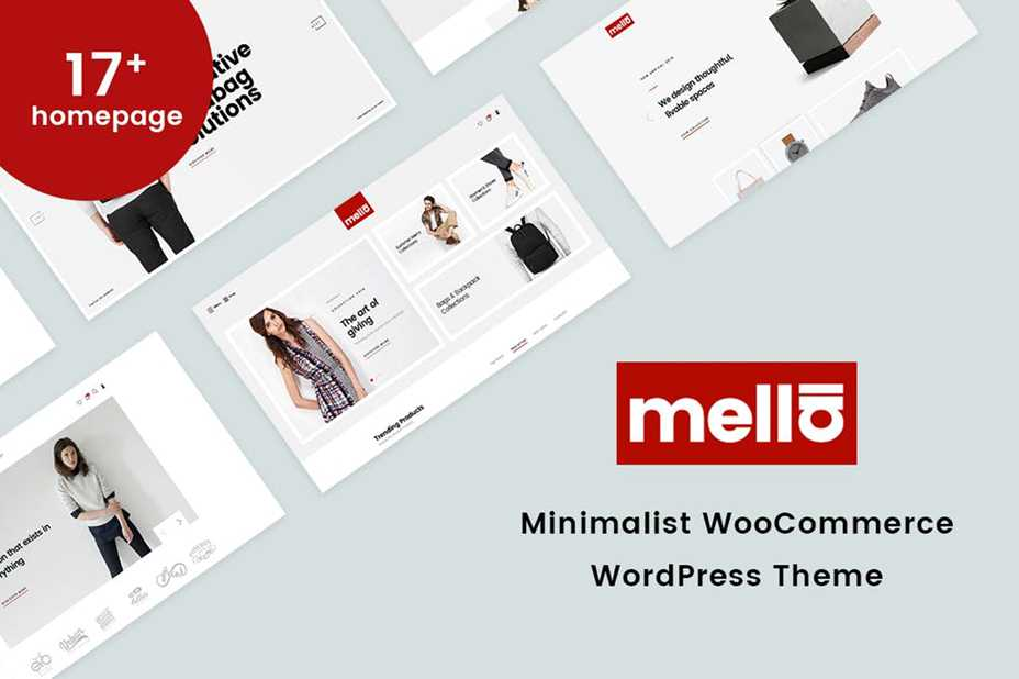 Mella minimalist woocommerce wordpress theme