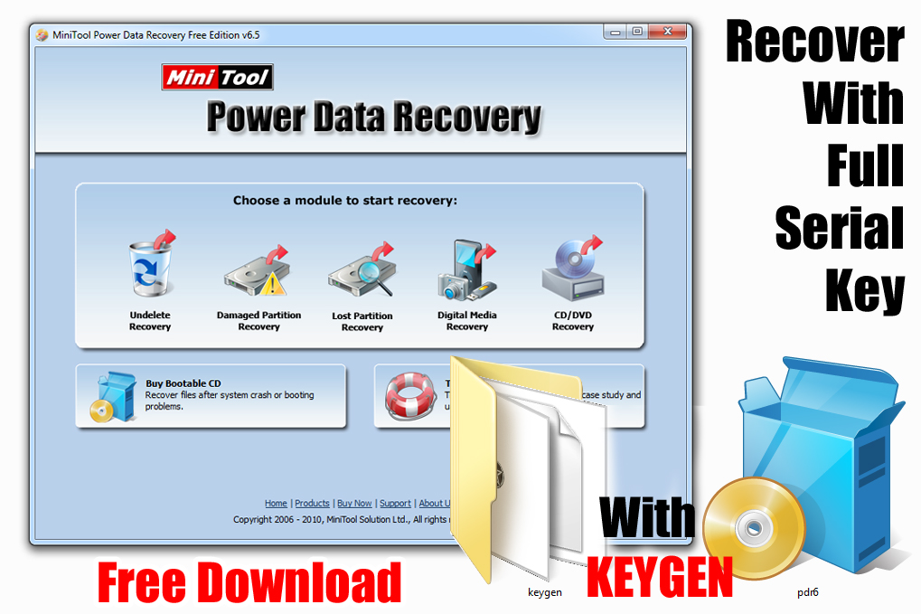 MiniTool Power Data Recovery 6.5.0.1 Software_ With Key
