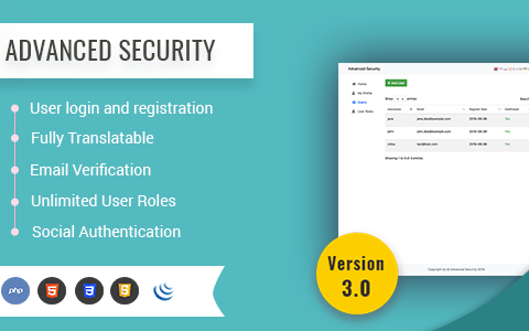 Advanced Security - PHP Register/Login System
