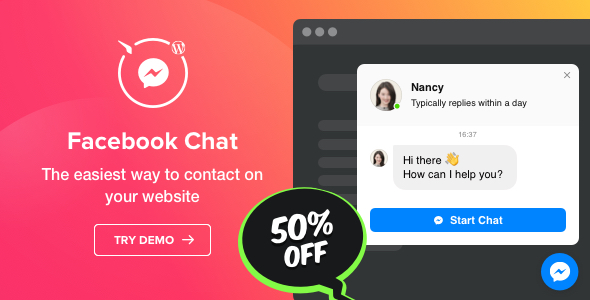 Facebook Chat - WordPress Facebook Messenger Free Download