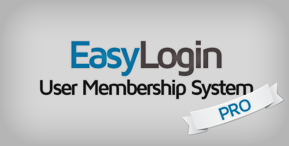 EasyLogin Pro - User Membership System