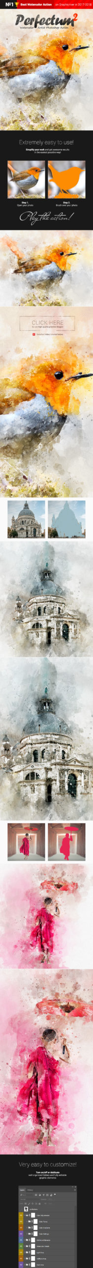 Watercolor - Perfectum 2 - Photoshop Action