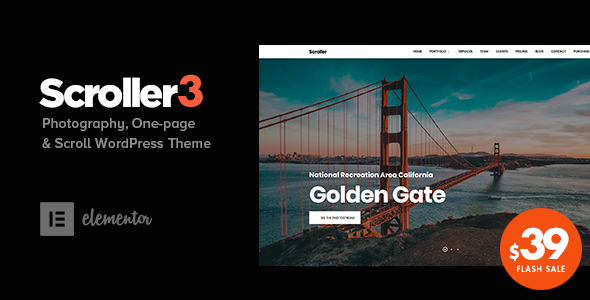 Scroller - Photography One Page / Multi-page WordPress Theme
