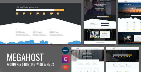 Hosting WordPress theme with WHMCS - MegaHost