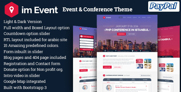 imEvent - Conference Meetup WordPress Theme