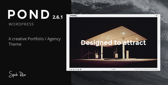 Pond - Creative Portfolio / Agency WordPress Theme - 5