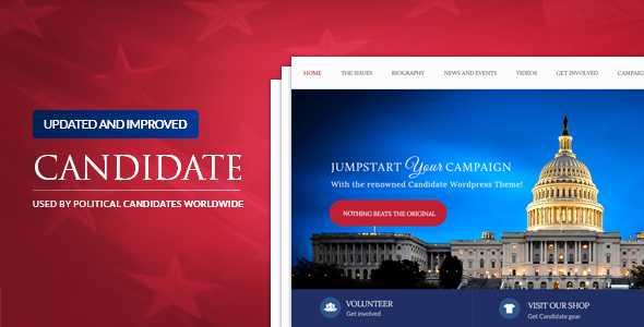 Candidate - Political WordPress Theme