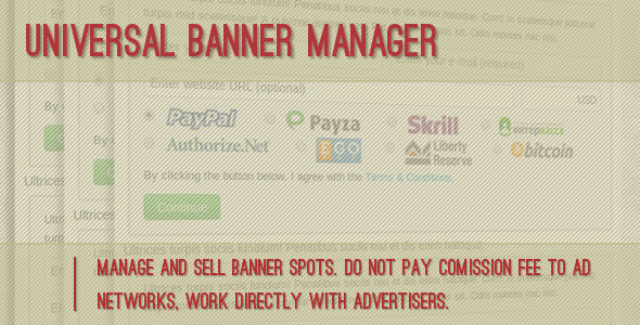 Universal Banner Manager