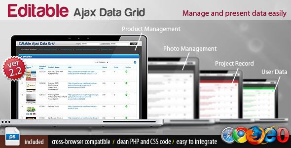 Editable Ajax Data Grid With Multiple Color