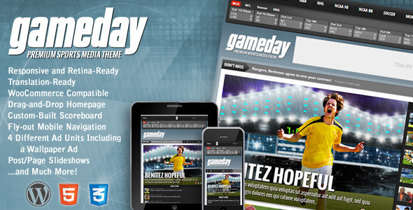 Gameday - WordPress Sports Media Theme