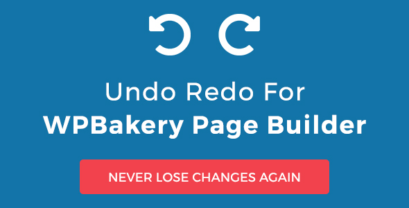 Undo Redo for WPBakery Page Builder