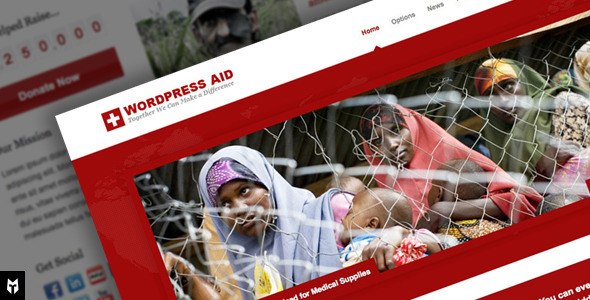 Aid: Responsive Charity + Blog WP Theme