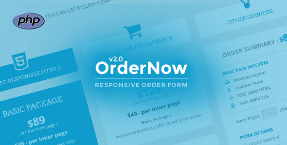 OrderNow - Responsive PHP Order Form