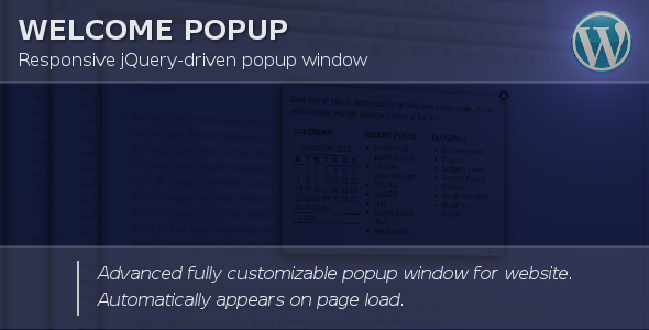 Welcome Popup for WordPress