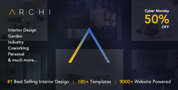 Archi Interior Design Website Template Envato Goods Free Download All Item S
