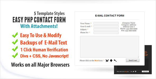 Easy Contact Form With Attachments
