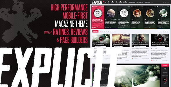 Explicit - High Performance Review/Magazine Theme - 1