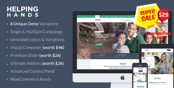 Charity WordPress Theme | HelpingHands - 1