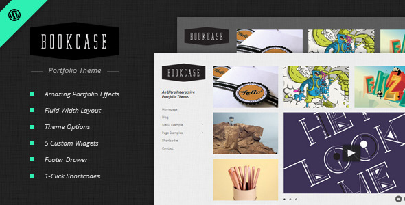 Bookcase - Wordpress Portfolio Theme