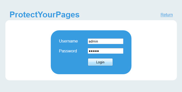 Protect Your Pages
