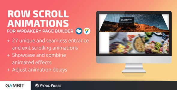 Row Scroll Animations for WPBakery Page Builder (formerly Visual Composer)