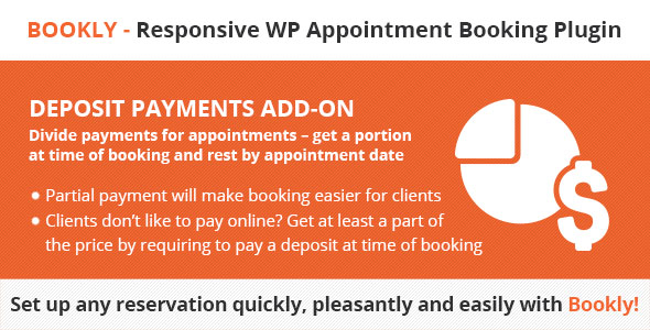 Bookly Deposit Payments (Add-on)