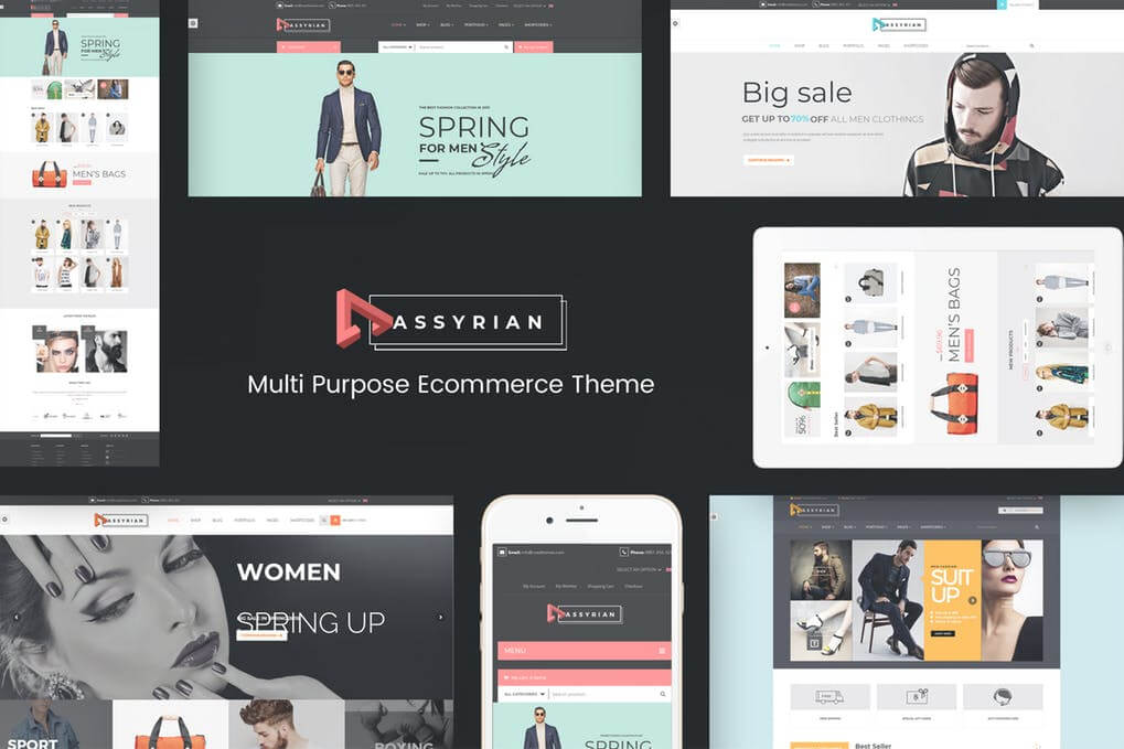 Assyrian Responsive Fashion WordPress Theme  Free Download