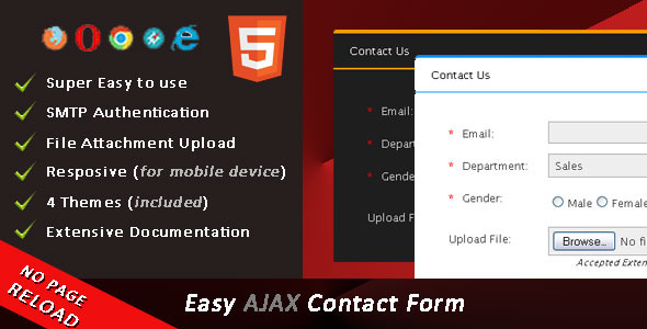 Easy AJAX Contact Form
