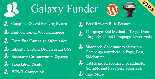 Galaxy Funder - WooCommerce Crowdfunding System - 1
