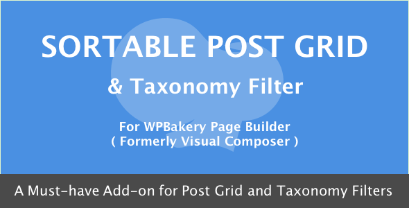 WPBakery Page Builder - Sortable Grid & Taxonomy filter