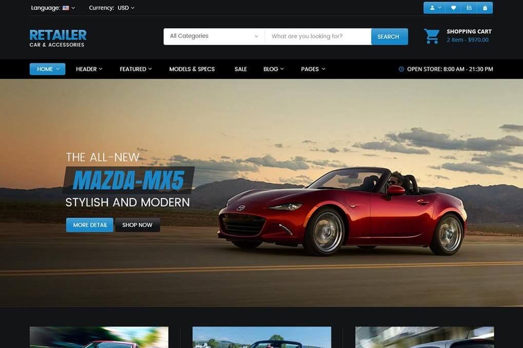 Micar Auto Dealer RTL WooCommerce WordPress Them Free Download