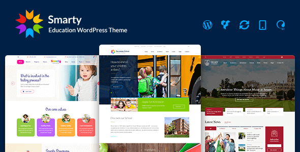 Smarty - School Kindergarten WordPress theme nulled free download