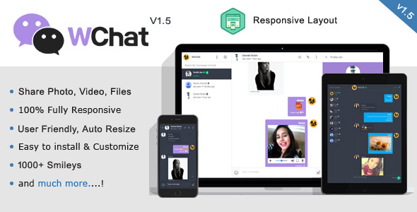 Wchat - Fully Responsive PHP AJAX Chat Script