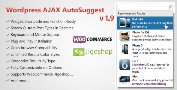 WordPress AJAX Search & AutoSuggest Plugin