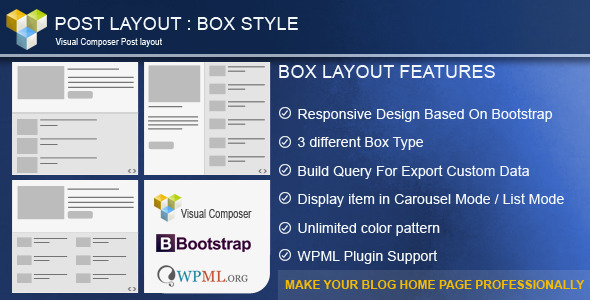 Post Layout : Box Style  for Visual Composer - 1