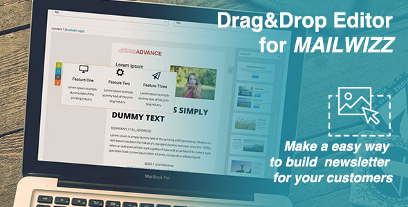 Drag&Drop Editor for MailWizz EMA - 1