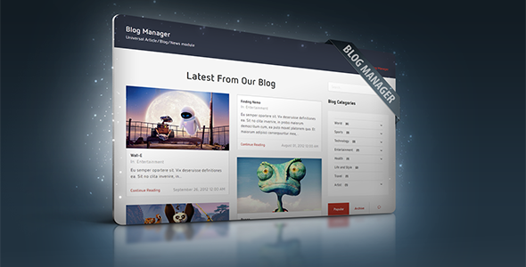 Blog Manager Module for CMS pro