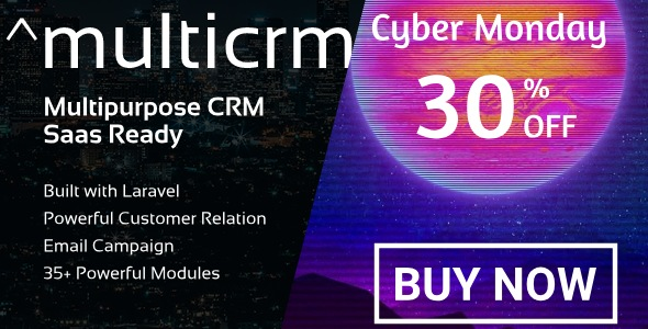 ^Multicrm - Multipurpose Powerful Open Source Laravel CRM. Saas Ready