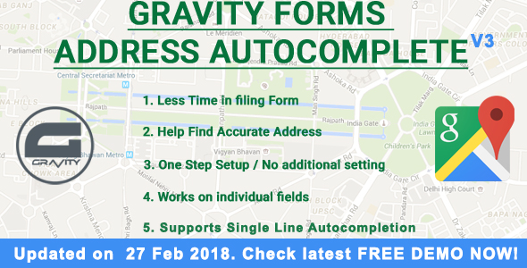 Gravity Forms Address Autocomplete