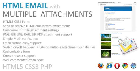 Email with Multiple Attachments (HTML5, PHP)